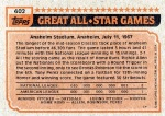 1983 Topps 402 Andre Dawson (All-Star) (Back)