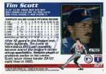 1995 Topps Traded Baseball 62T Tim Scott (Back)
