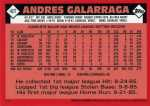 2001 Topps Traded Baseball T118 Andres Galarraga (Reprint) (Back)