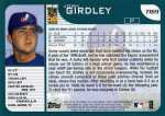 2001 Topps Traded Baseball T169 Josh Girdley (Back)