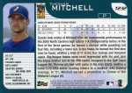 2001 Topps Traded Baseball T232 Thomas Mitchell (Back)