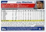2004 Topps Baseball 465 Joey Eischen (Back)