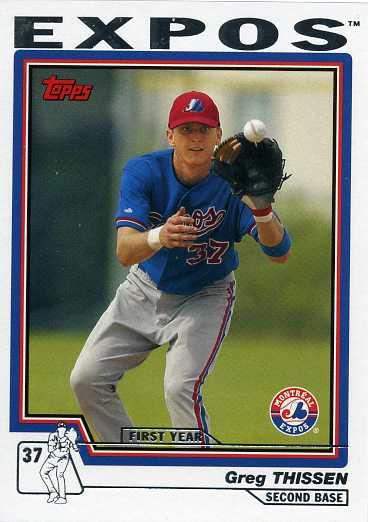 2004 Topps Baseball T214 Greg Thissen