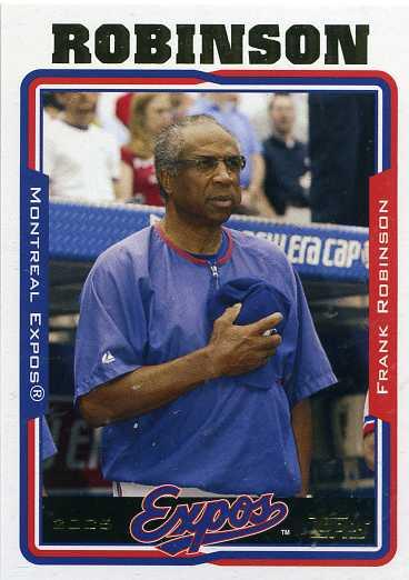 2005 Topps Baseball 284 Frank Robinson - Manager